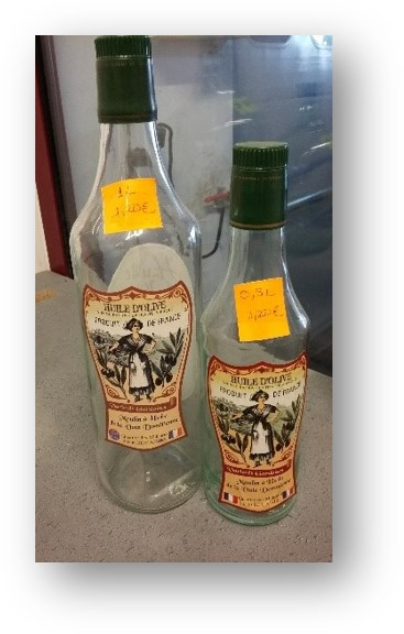 Emballage et restitution de votre huile